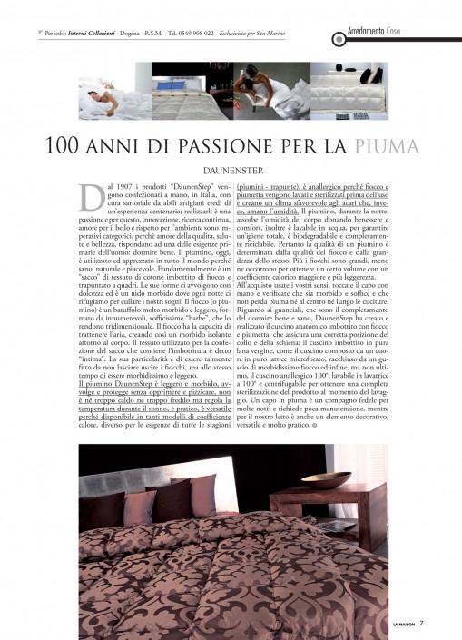 Daunenstep: 100 anni di passione per la piuma