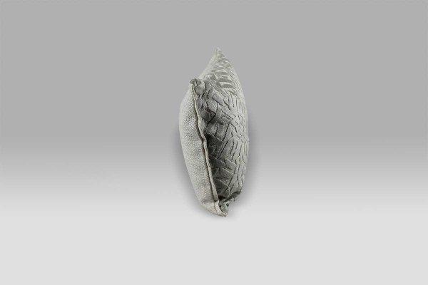 Cuscino 30x40 Dufrene Platinum velluto operato grigio Designers Guild
