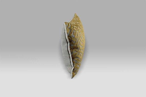 Cuscino 30x40 Dufrene Saffron velluto operato giallo ocra Designers Guild