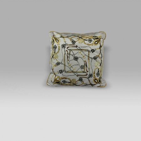 Cuscino 50x50 Harnais vellutino grigio Mastro Raphael