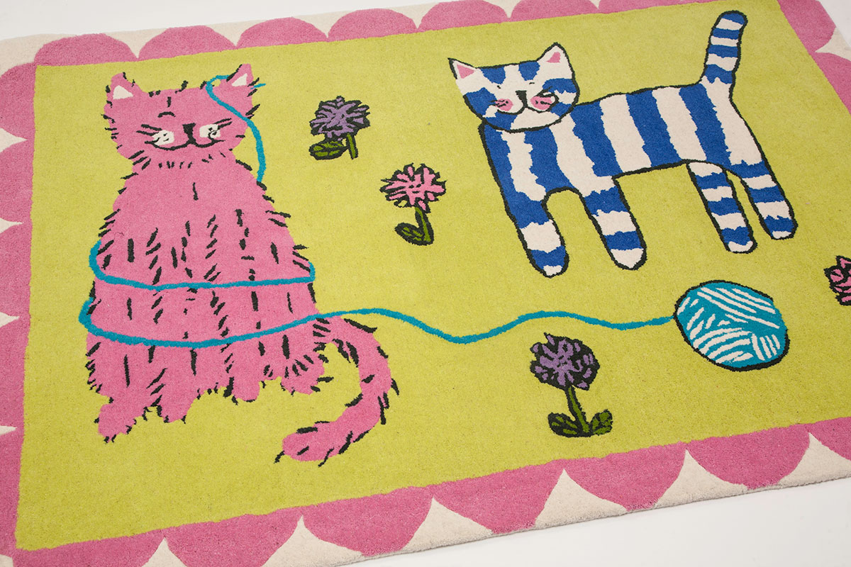 Tappeto baby cats Designers Guild Kids