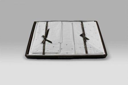 Completo Lenzuola Fontainebleau Mastro Raphael bianco