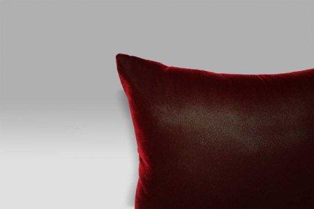 Cuscino 40x40 Velluto unito rosso fidelio Bagnaresi Casa