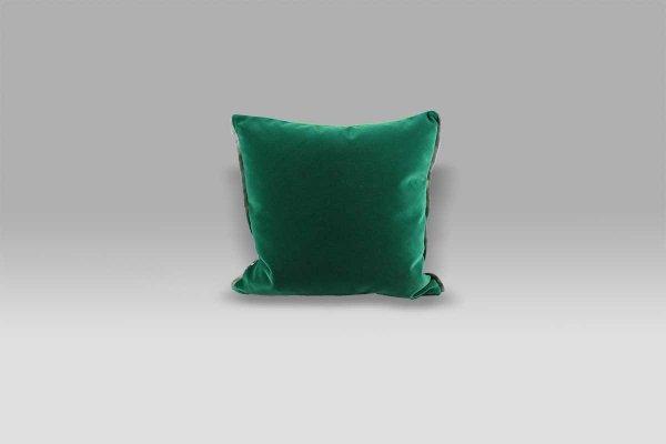Cuscino 43x43 Varese Malachite double verde velluto Designers Guild