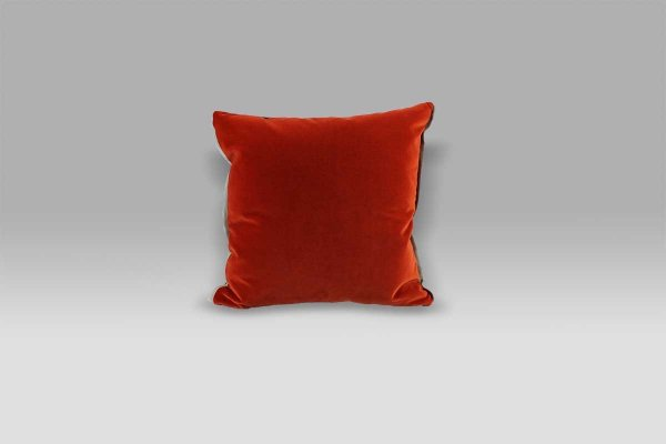 Cuscino 43x43 Varese Paprika double rosso marrone velluto Designers Guild
