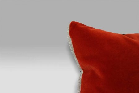 Cuscino 43x43 Varese Paprika double rosso marrone velluto Designers Guild