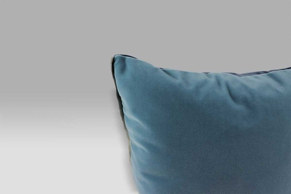 Cuscino 43x43 Varese Prussian double blu azzurro velluto Designers Guild