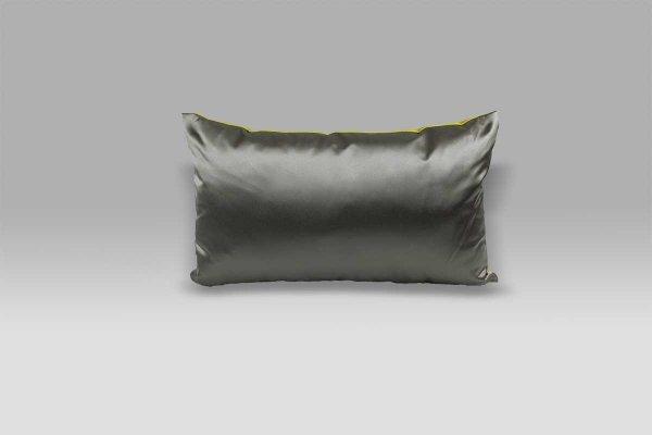Cuscino 50x30 Trentino Alchemilla velluto raso giallo ocra tortora Designers Guild