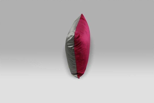 Cuscino 50x30 Trentino Magenta velluto raso fucsia grigio Designers Guild