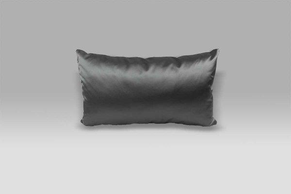 Cuscino 50x30 Trentino Zinc velluto raso grigio perla grigio scuro Designers Guild