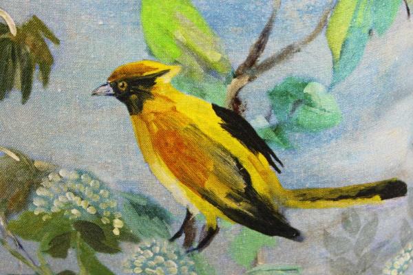 Cuscino 50x50 Giardino Segreto Delft lino stampa uccelli Designers Guild
