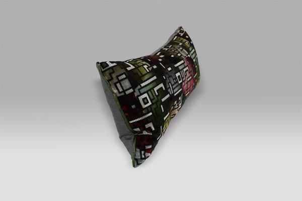 Cuscino 60x30 Casablanca Berry velluto operato retro effetto seta Designers Guild