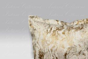 Cuscino Palais Effetto Marmo oro-beige Mastro Raphael