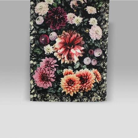 Plaid Dahlia Noir Fuchsia Designers Guild