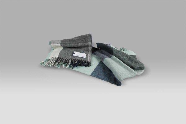 Plaid Glennan Water Blue scacco blu grigio Designers Guild