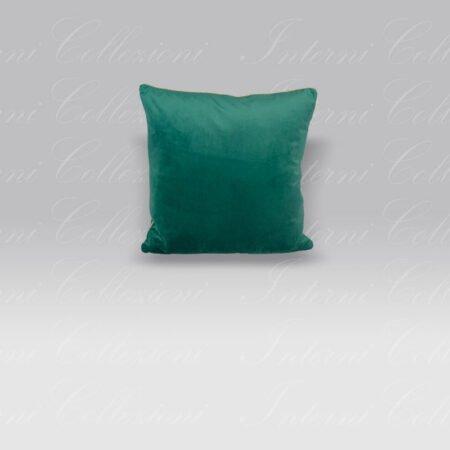 Cuscino Living Velluto verde scuro Borbonese