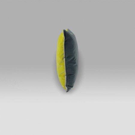 Cuscino Varese 43x43 Pewter giallo grigio Designers Guild