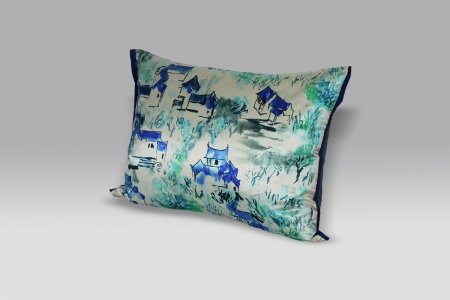 Cuscino Jade Temple Cornflower Designers Guild