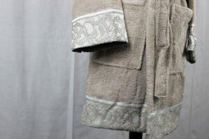 Accappatoio Fascino sabbia David Home Collection