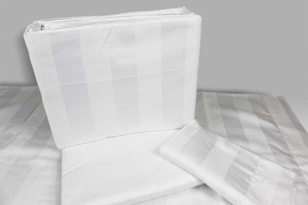 Completo Lenzuola Onice VBC-bianco riga lucido opaca Bellora