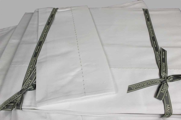 Completo Lenzuola Pergamon bianco con impuntura bianco Mastro Raphael