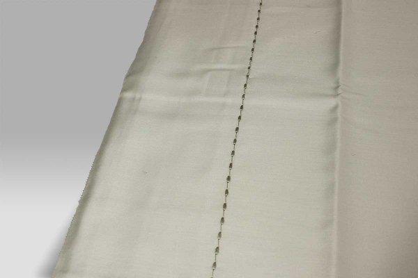 Completo Lenzuola Pergamon grigio chiaro con impuntura creta Mastro Raphael