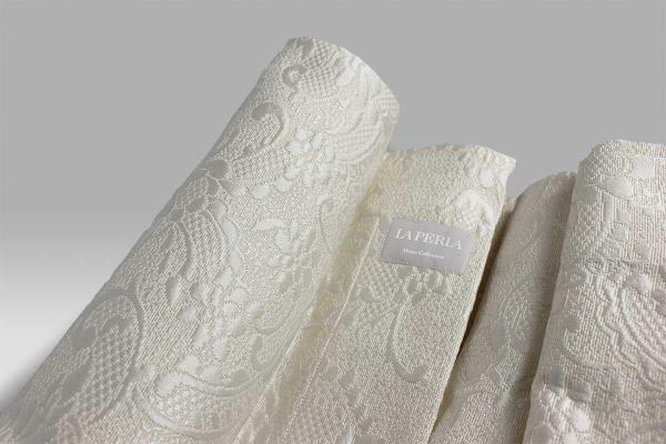Copriletto Victoria bianco seta La Perla