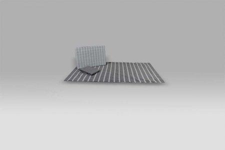 Parure Lenzuola Azimut A102 riga grigio melange Bossi Casa