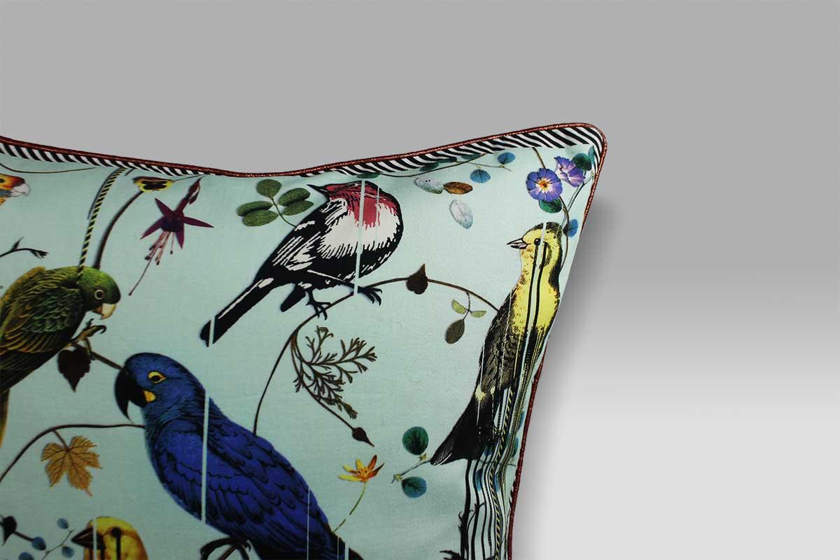 Cuscino 50x50 Birds Sinfonia Crepuscule Christian Lacroix