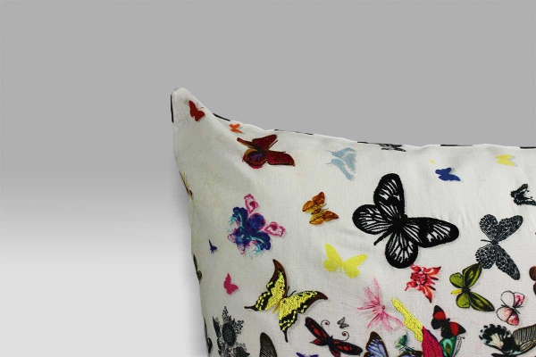 Cuscino 50x50 Butterfly Parade Opaline lino Christian Lacroix