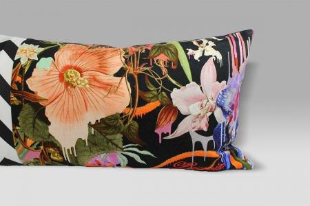 Cuscino 60x30 Orchids Fantasia Prisma Christian Lacroix