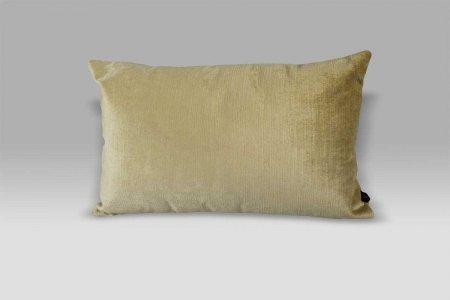 Cuscino Bagnaresi Casa 25x40 Velluto Velvet striato beige swarovski e perle
