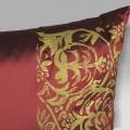 Cuscino Bagnaresi casa 40x40 taffetà seta rosso stampa oro