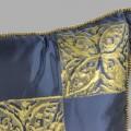 Cuscino Bagnaresi Casa 40x40 taffetà seta stampa oro passameneria cordonetto