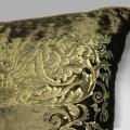 Cuscino Bagnaresi Casa 50x50 velluto stampa oro passameneria cordonetto