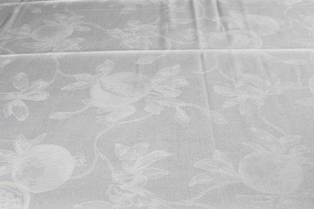 Tovaglia Hesperia con tovaglioli bianco Tessitura Toscana Telerie