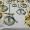 Tovaglia Tessitura Toscana Telerie Jingle Bells Oro