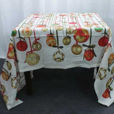 Tovaglia Tessitura Toscana Telerie Jingle Bells Rosso