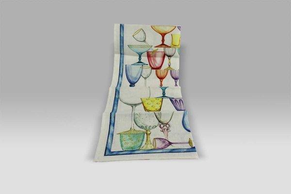 Canovaccio Crystal Blu Tessitura Toscana Telerie