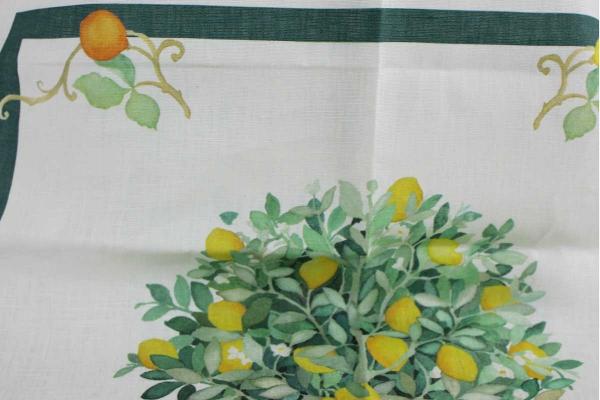 Canovaccio Sorrento Limoni Tessitura Toscana Telerie
