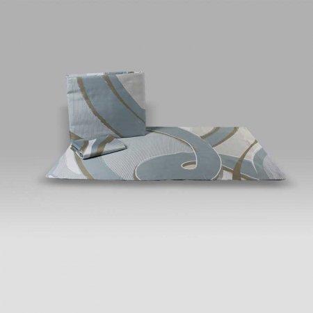 Parure Copripiumino Nastro 6580 azzurro Tag House