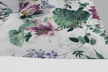Parure Copripiumino Palm 8368 lilla Tag House