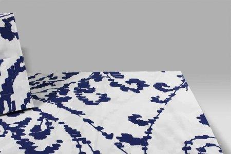 Parure Copripiumino Velasca 7518 blu Bossi Casa