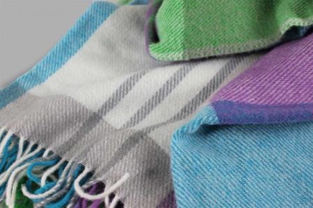 Plaid Erraclale Crocus Blanket Designers Guild