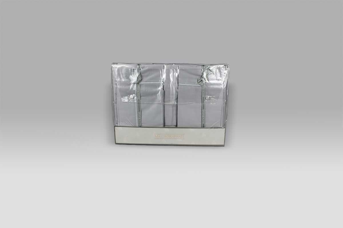 Completo Lenzuola BeB Bacchettina grigio 9B Mastro Raphael