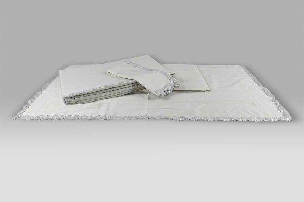 Copripiumino Petite Maison La Perla bianco