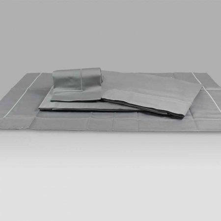 Completo Lenzuola BeB raso Mastro Raphael grigio