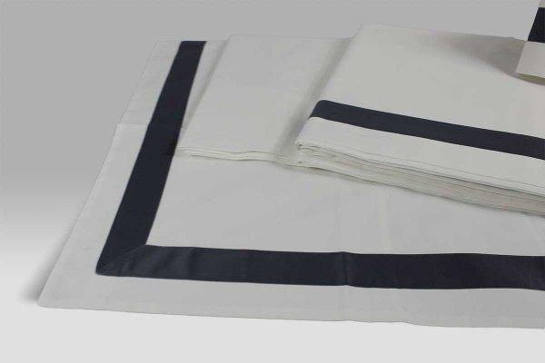Completo Lenzuola C15 Dea avorio bordo piombo