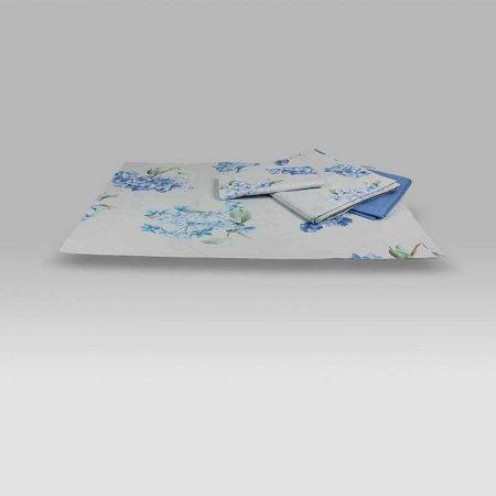 Completo Lenzuola Copriletto Bellagio Blu Dea