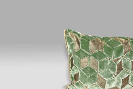 Cuscino 50x30 Fitzrovia Antique Jade verde-acqua Designers Guild